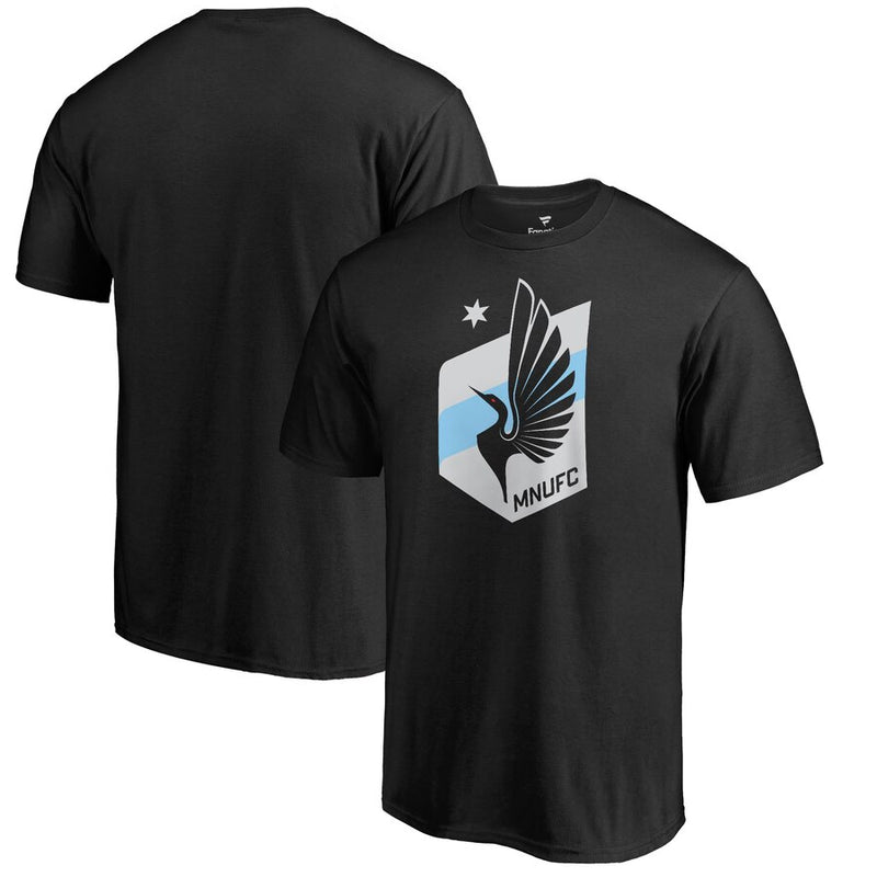 Minnesota United FC Fanatics Black Primary Logo T-Shirt