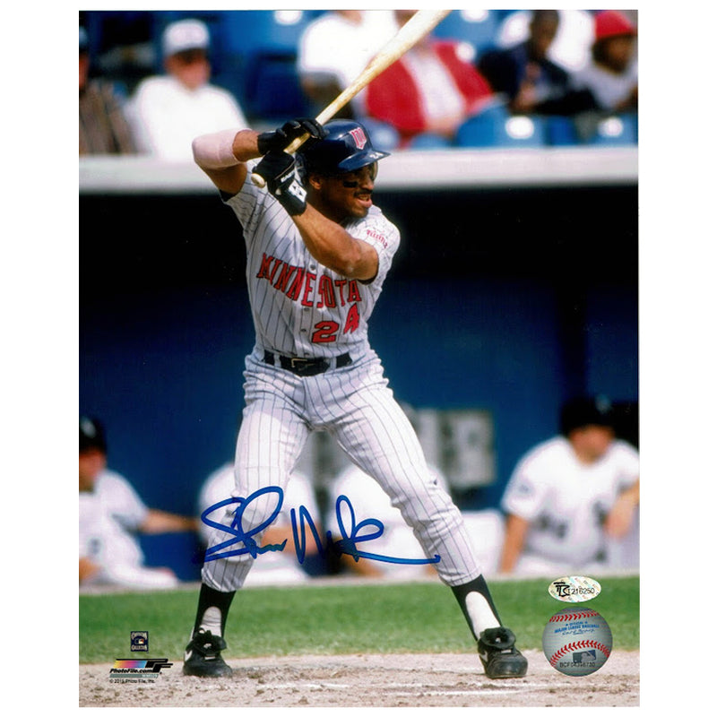 Shane Mack Autographed Minnesota Twins 8x10 Photo