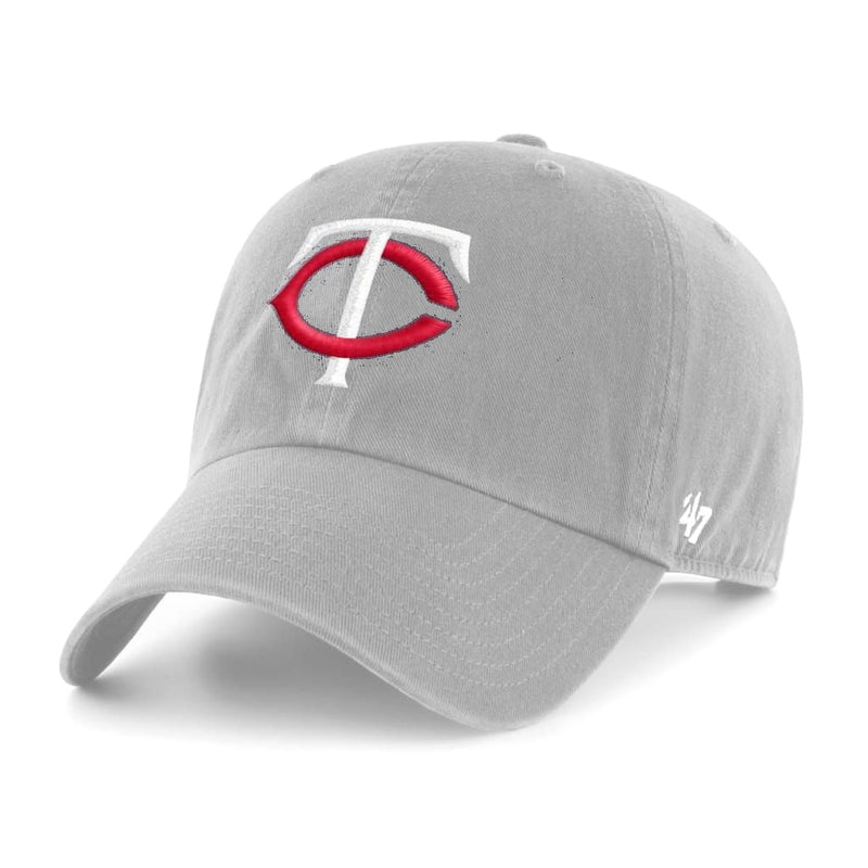 Minnesota Twins Gray TC Logo '47 Clean Up Hat