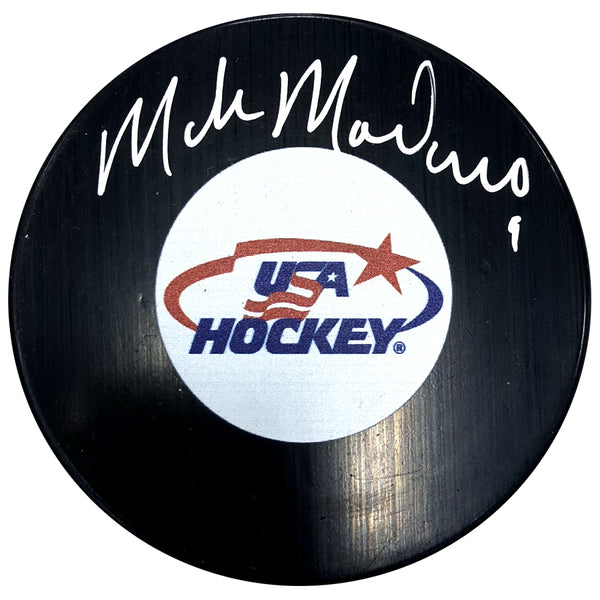 Mike Modano Autographed USA Hockey Puck