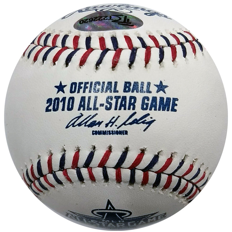 Justin Morneau Autographed 2010 All Star Game Baseball Minnesota Twins