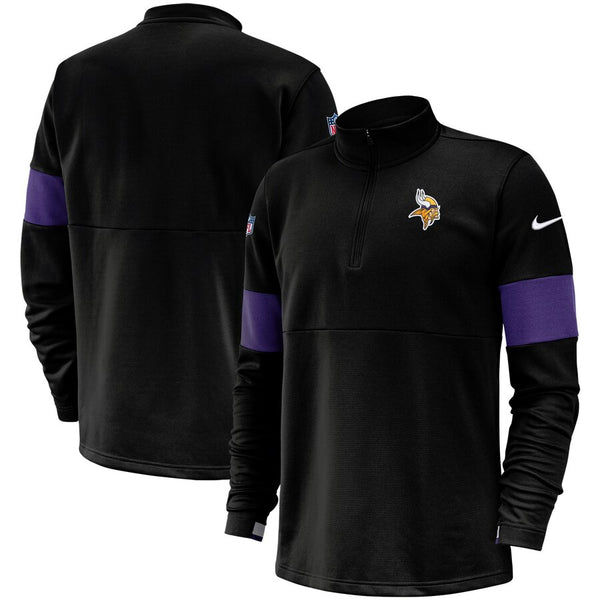 Minnesota Vikings Nike Sideline Performance Black Half-Zip Pullover Jacket