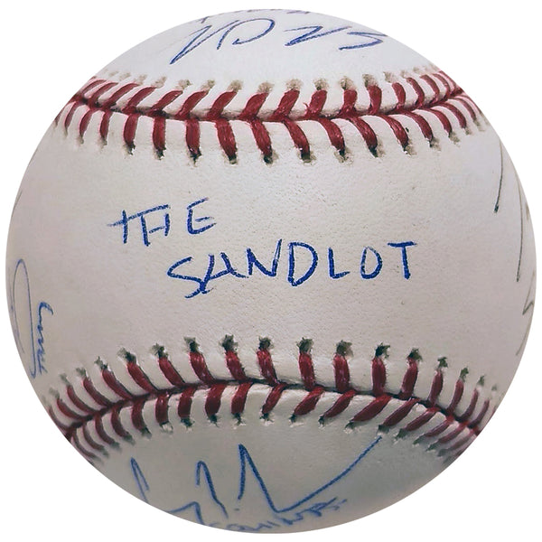 The Sandlot Cast Signed Rawlings OMLB Baseball - 6 AUTOS - Squints, Smalls, Yeah Yeah +