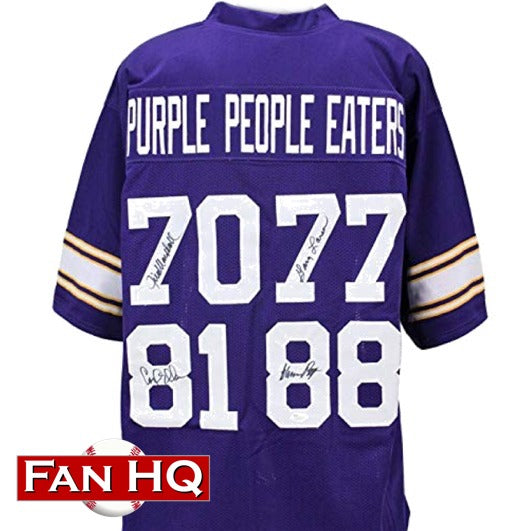 Purple People Eaters Autographed Purple Pro-Style Jersey