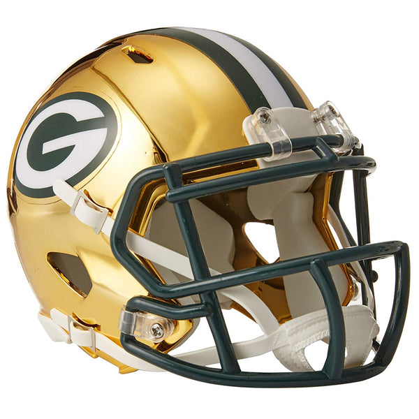 Green Bay Packers Riddell Chrome Alternate Speed Mini Helmet