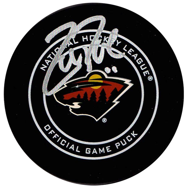 Zach Parise Autographed Minnesota Wild Game Puck