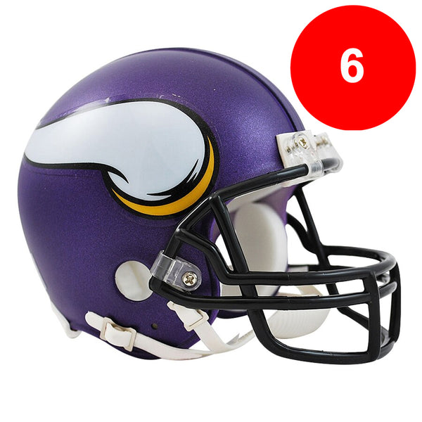 Fan HQ Pre-Paid Discount Card: Vikings Mini Helmets (6) - SAVE $30!