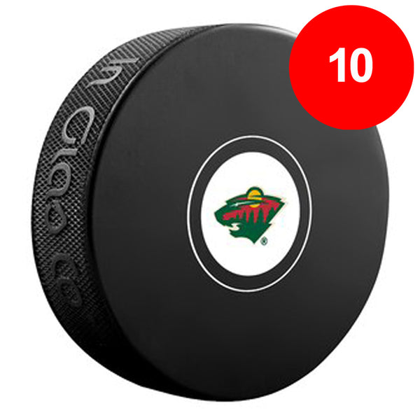 Fan HQ Pre-Paid Discount Card: Minnesota Wild Logo Pucks (10) - SAVE $20