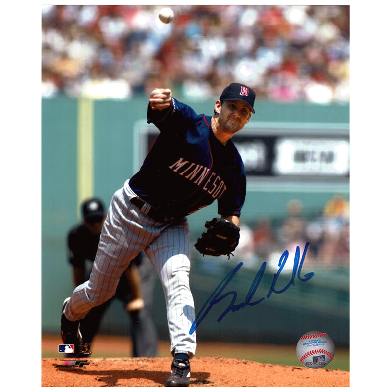 Brad Radke Autographed Minnesota Twins 8x10 Photo Blue Jersey