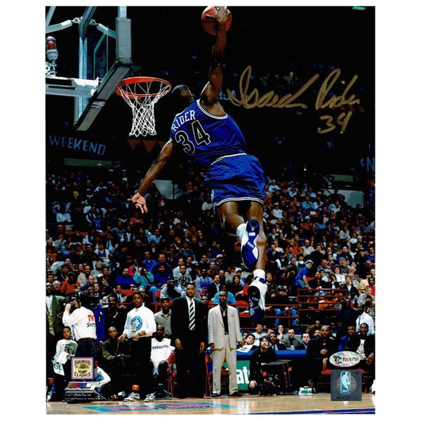 Isaiah Rider Autographed 1994 Slam Dunk Contest 8x10 Photo Minnesota Timberwolves
