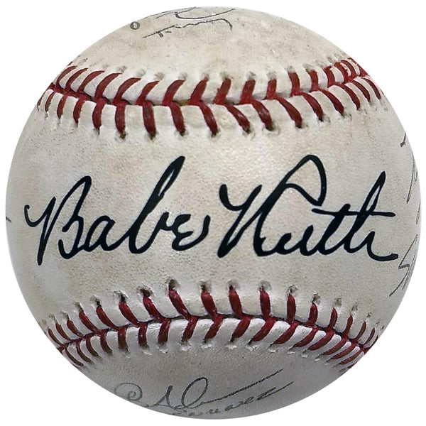 The Sandlot Cast Signed Rawlings OMLB Babe Ruth Baseball - 6 AUTOS - Squints, Smalls, Yeah Yeah +