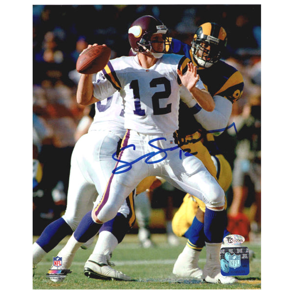 Sean Salisbury Autographed Minnesota Vikings 8x10 Photo