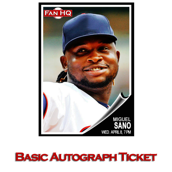 Miguel Sano Basic Autograph Ticket