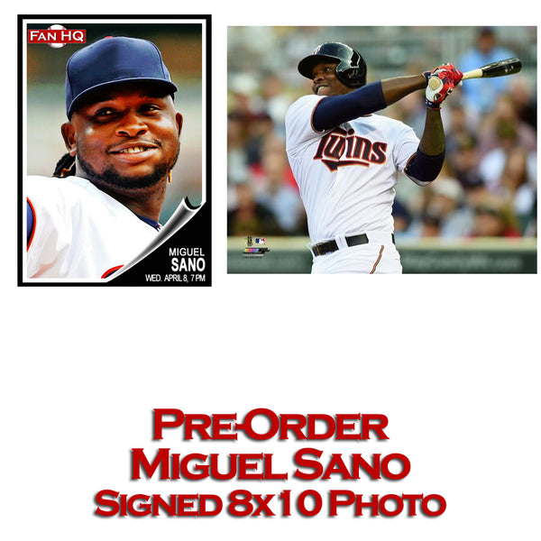 PRE-ORDER Miguel Sano Autographed 8x10 Photo (White Jersey)