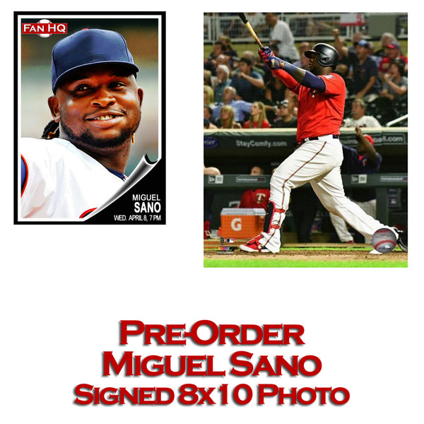 PRE-ORDER Miguel Sano Autographed 8x10 Photo (Red Jersey)