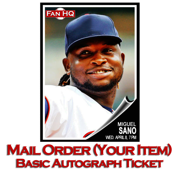 Miguel Sano Basic Autograph Mail Order (Your Item)