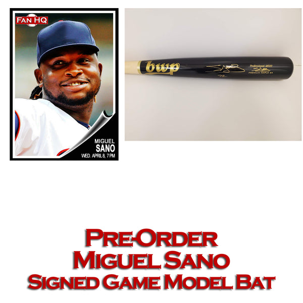 PRE-ORDER Miguel Sano Autographed BWP Game Model Bat