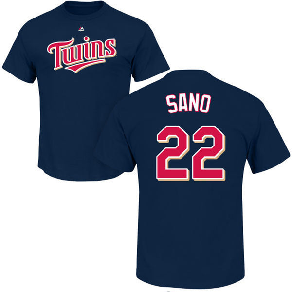 Miguel Sano Minnesota Twins Majestic Navy Player Tee T-Shirt