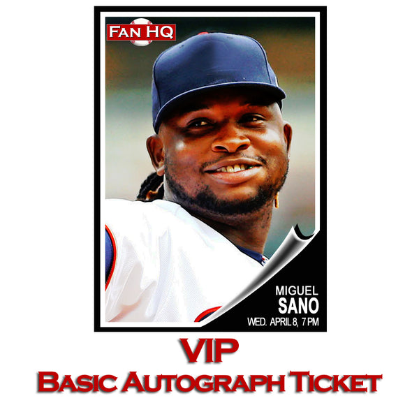 Miguel Sano VIP Basic Autograph Ticket