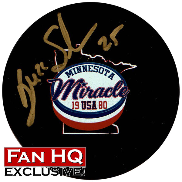 Buzz Schneider Autographed Exclusive Minnesota Miracle Puck