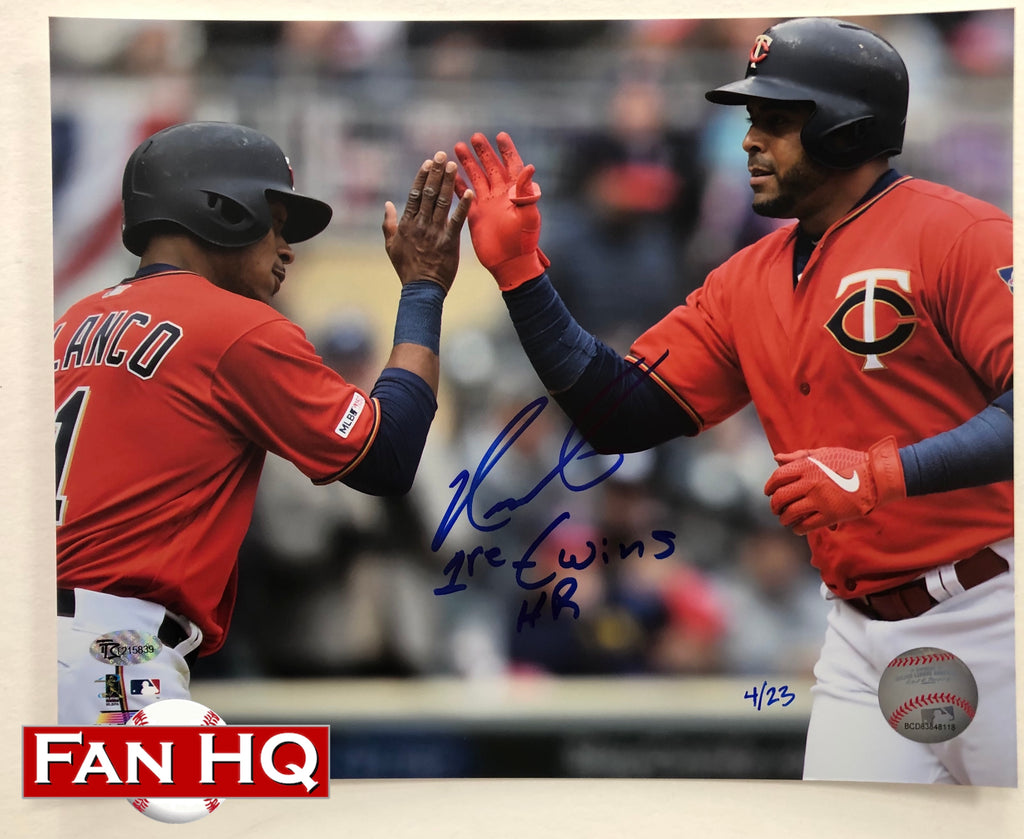 Nelson Cruz Autographed Minnesota Twins 1st HR 8x10 Photo (Numbered Edition of 23)