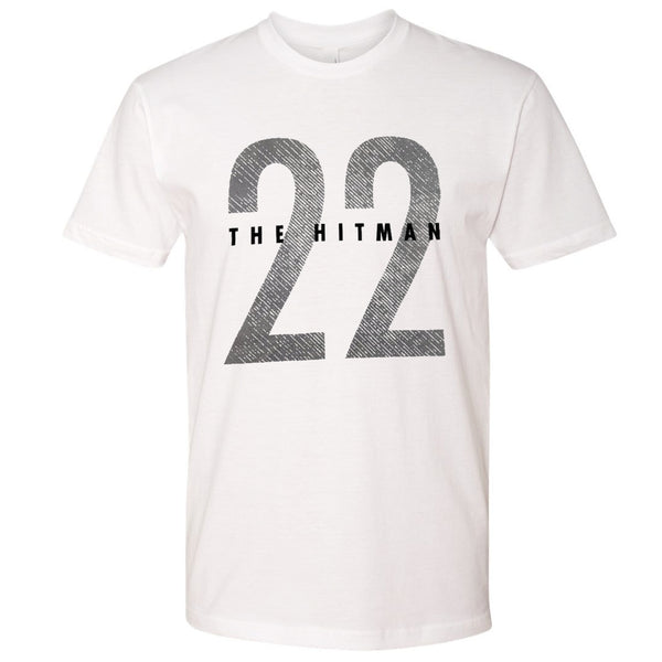 Harrison Smith Exclusive White The Hitman 22 Front T-Shirt