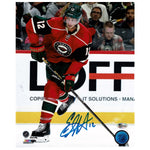 Eric Staal Autographed Minnesota Wild 8x10 Photo Shooting
