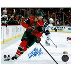 Eric Staal Autographed Minnesota Wild 8x10 Photo Skating