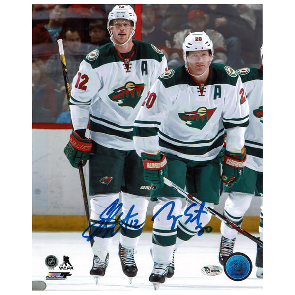Eric Staal & Ryan Suter Autographed Minnesota Wild 8x10 Photo