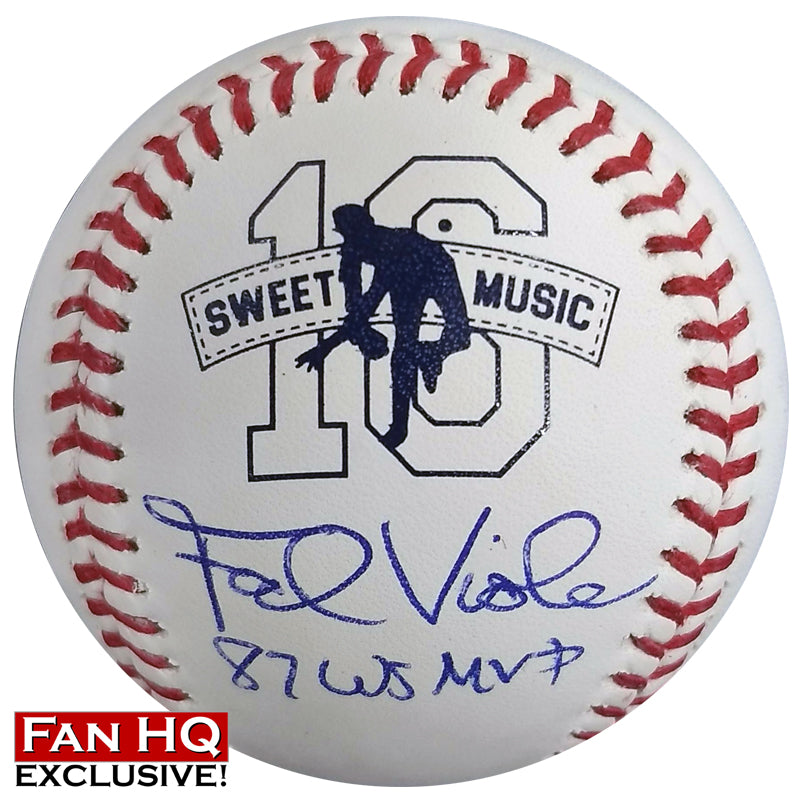 "Frank Viola Autographed/Inscribed Fan HQ Exclusive Nickname ""87 WS MVP"" Baseball (#1/16)"