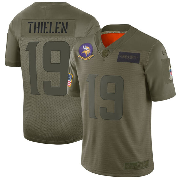 Adam Thielen Minnesota Vikings Salute To Service 2019 Nike Limited Jersey
