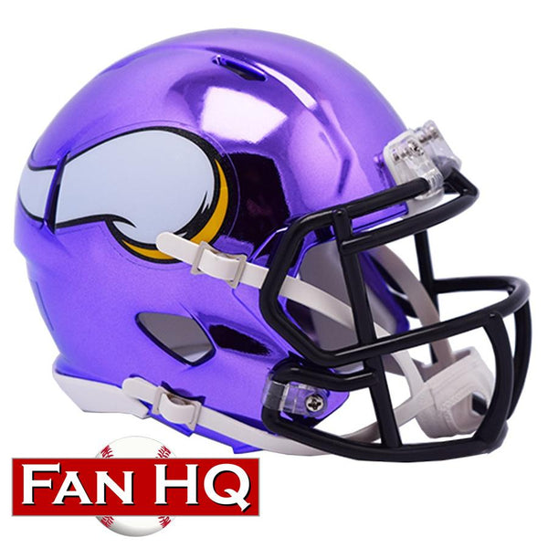 PRE-ORDER: Chuck Foreman Autographed Vikings Chrome Mini Helmet (With or Without Inscription)