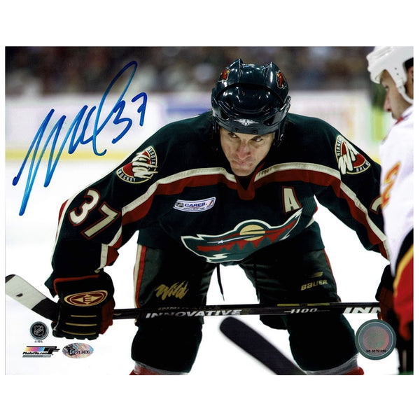 Wes Walz Autographed Minnesota Wild 8x10 Photo Faceoff