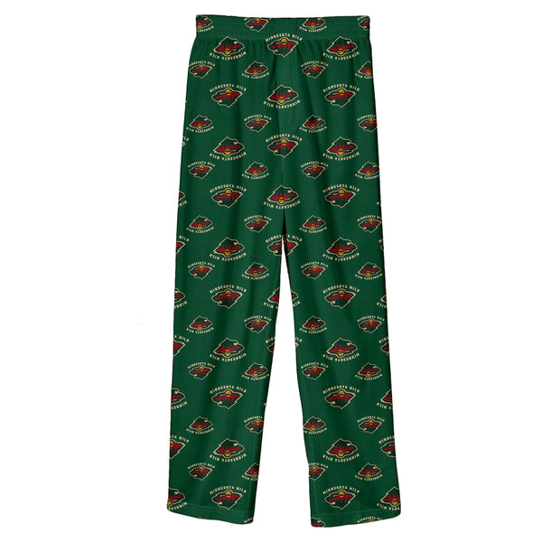 Minnesota Wild Kids Fleece Team Logo Print Pajama Pants