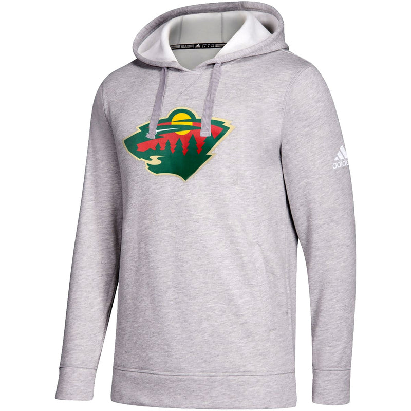 Minnesota Wild adidas Gray Primary Logo Fleece Hoodie