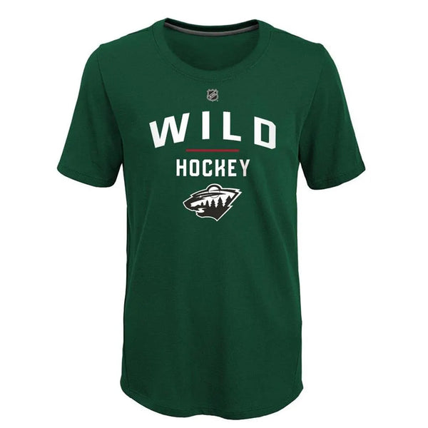 Minnesota Wild Youth Green Unassisted Goal T-Shirt