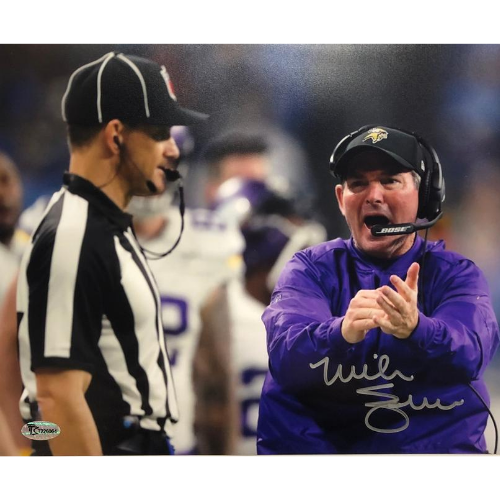 Mike Zimmer Autographed 8x10 Horizontal Photo Minnesota Vikings