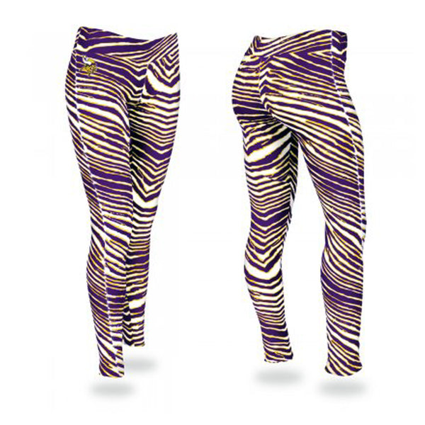 Minnesota Vikings Zubaz Purple/Gold Zebra Legging