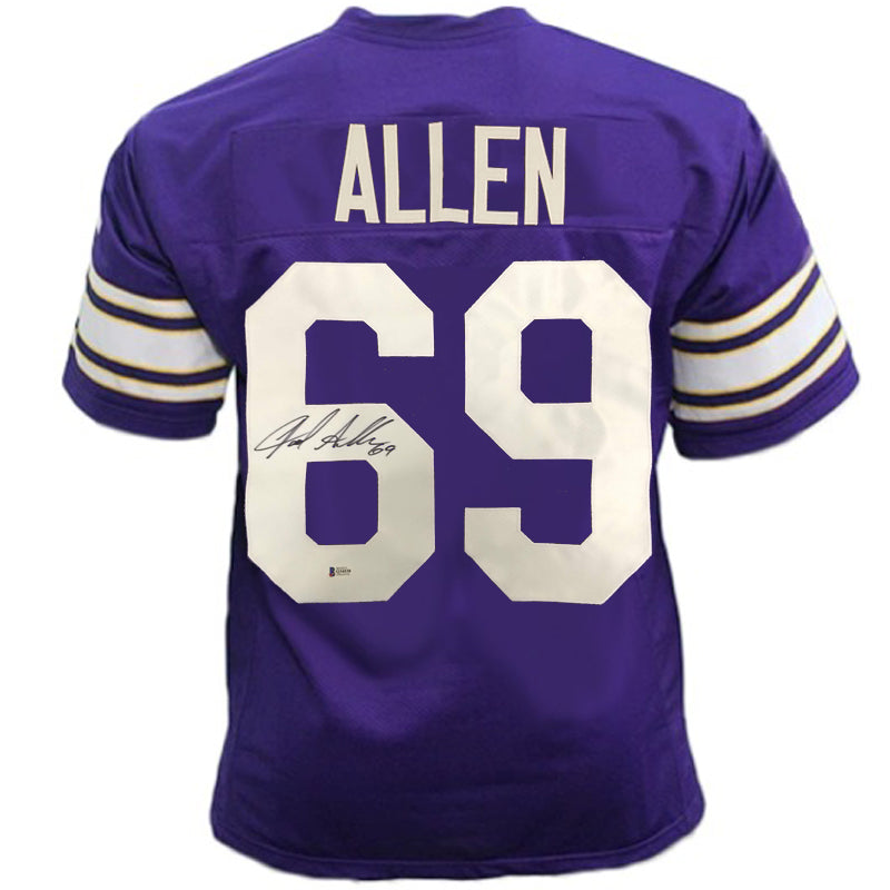 Jared Allen Autographed Throwback Purple Pro-Style Jersey