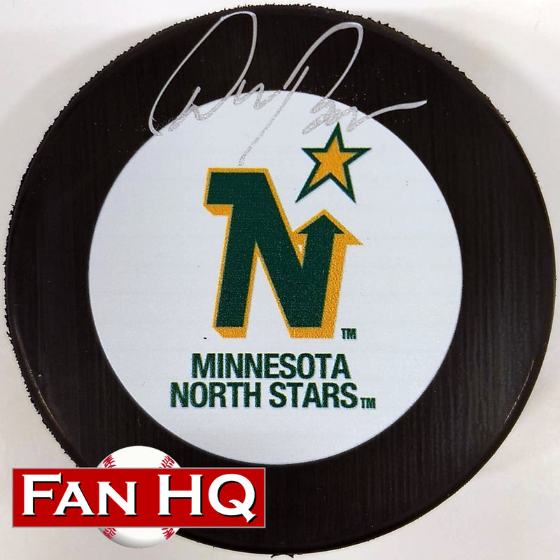 Don Beaupre Autographed Minnesota North Stars Puck