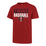 Minnesota Twins Red '47 Blockout Super Rival T-Shirt