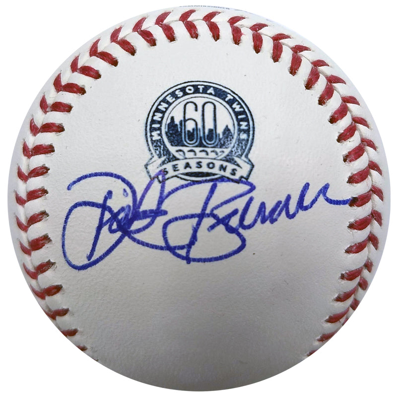 Dick Bremer Autographed Minnesota Twins 60th Anniversary Baseball