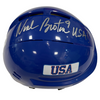 "Neal Broten Autographed Royal Blue Mini Helmet ""USA!"" (#7/9)"