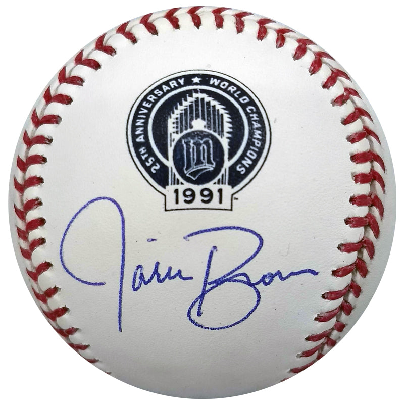 Jarvis Brown Autographed 1991 World Champions 25th Anniversary Baseball Minnesota Twins