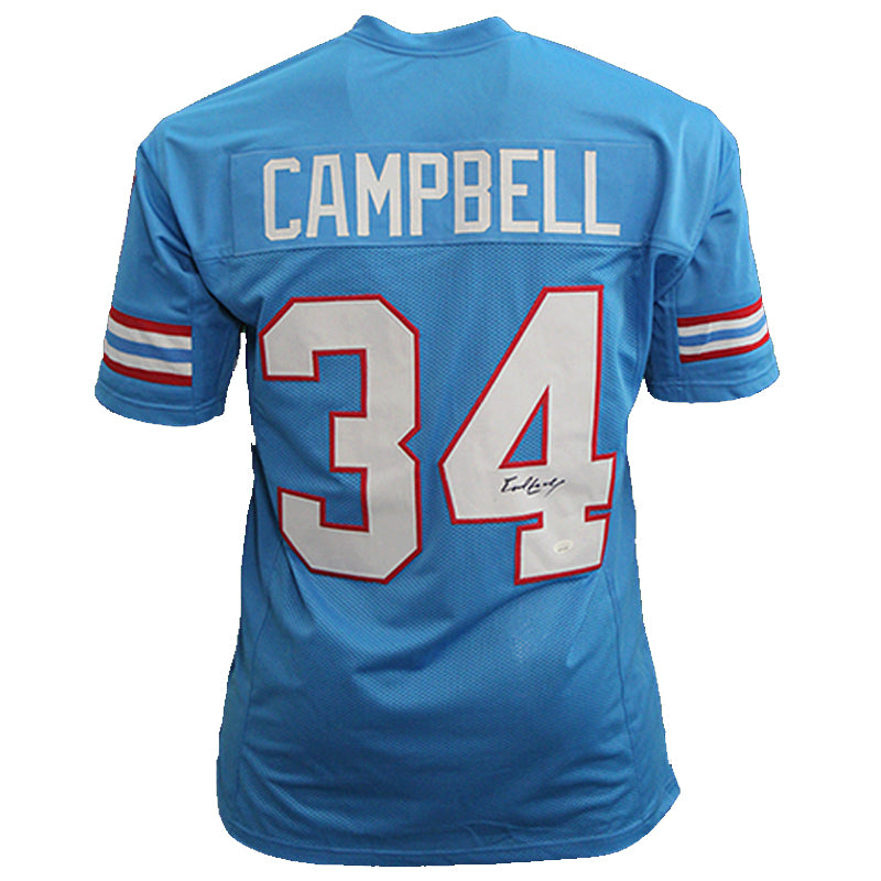 Earl Campbell Autographed Powder Blue Pro-Style Jersey