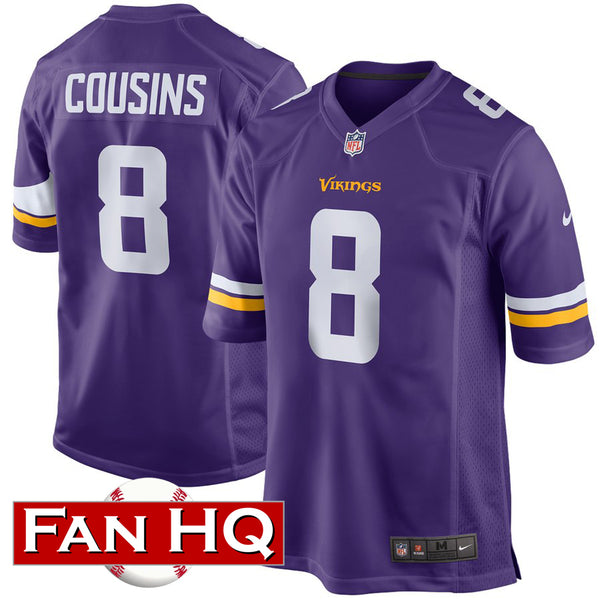Kirk Cousins Minnesota Vikings Purple Nike Game Jersey
