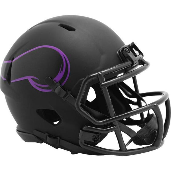 PRE-ORDER: Chuck Foreman Autographed Vikings Eclipse Mini Helmet (With or Without Inscription)