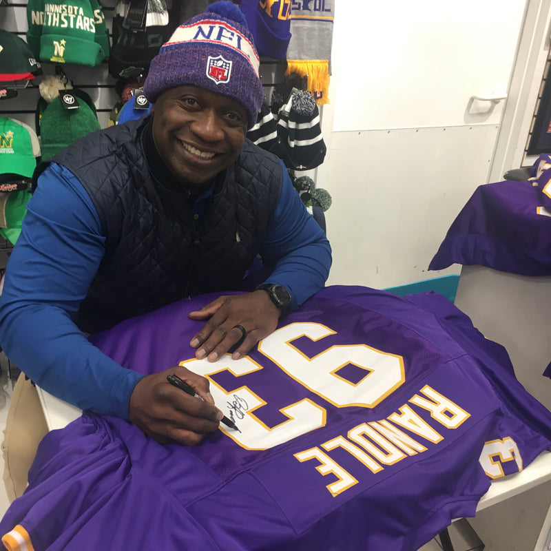 John Randle Autographed Purple Throwback Pro-Style Jersey