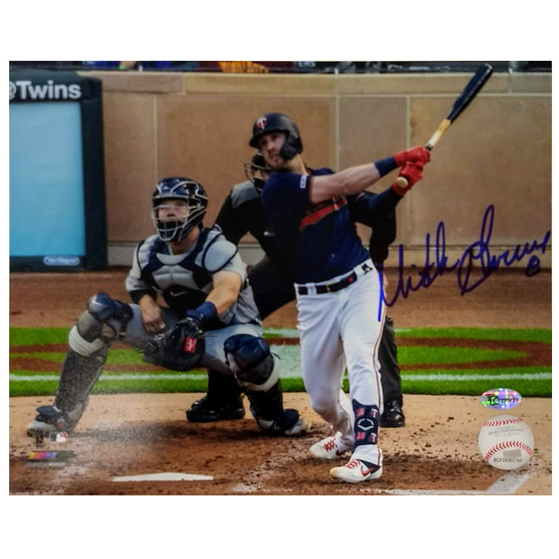 Mitch Garver Autographed Navy Jersey 8x10 Photo