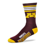Minnesota Golden Gophers Team Color Duster Socks